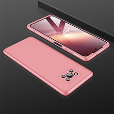 Custodia Plastica Rigida Cover Opaca Fronte e Retro 360 Gradi M01 per Xiaomi Poco X3 NFC Oro Rosa