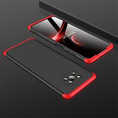 Custodia Plastica Rigida Cover Opaca Fronte e Retro 360 Gradi M01 per Xiaomi Poco X3 NFC Rosso e Nero