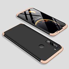 Custodia Plastica Rigida Cover Opaca Fronte e Retro 360 Gradi M01 per Xiaomi Redmi Note 8 Oro e Nero