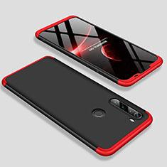 Custodia Plastica Rigida Cover Opaca Fronte e Retro 360 Gradi M01 per Xiaomi Redmi Note 8T Rosso e Nero