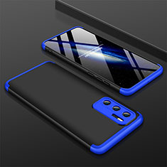 Custodia Plastica Rigida Cover Opaca Fronte e Retro 360 Gradi M02 per Huawei P40 Blu e Nero