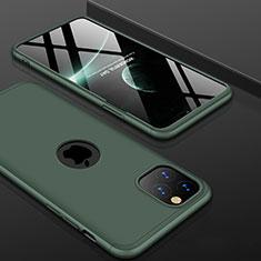 Custodia Plastica Rigida Cover Opaca Fronte e Retro 360 Gradi P01 per Apple iPhone 11 Pro Verde