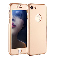 Custodia Plastica Rigida Cover Opaca Fronte e Retro 360 Gradi P01 per Apple iPhone 8 Oro