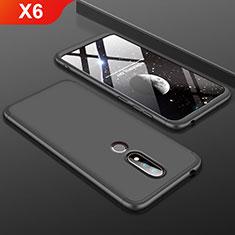 Custodia Plastica Rigida Cover Opaca Fronte e Retro 360 Gradi P01 per Nokia X6 Nero