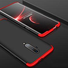 Custodia Plastica Rigida Cover Opaca Fronte e Retro 360 Gradi P01 per OnePlus 7T Pro Rosso e Nero