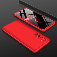 Custodia Plastica Rigida Cover Opaca Fronte e Retro 360 Gradi P01 per Realme X50 Pro 5G Rosso