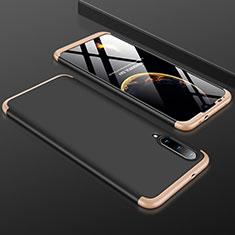 Custodia Plastica Rigida Cover Opaca Fronte e Retro 360 Gradi P01 per Xiaomi Mi A3 Oro e Nero