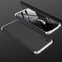 Custodia Plastica Rigida Cover Opaca Fronte e Retro 360 Gradi P03 per Xiaomi Redmi 9i Argento e Nero