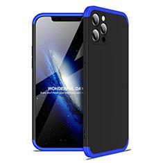 Custodia Plastica Rigida Cover Opaca Fronte e Retro 360 Gradi per Apple iPhone 12 Pro Blu e Nero