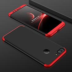 Custodia Plastica Rigida Cover Opaca Fronte e Retro 360 Gradi per Huawei Honor 9 Lite Rosso e Nero
