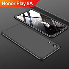 Custodia Plastica Rigida Cover Opaca Fronte e Retro 360 Gradi per Huawei Honor Play 8A Nero