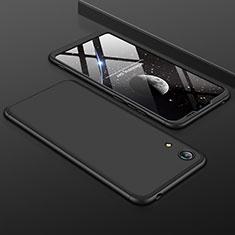 Custodia Plastica Rigida Cover Opaca Fronte e Retro 360 Gradi per Huawei Y6s Nero