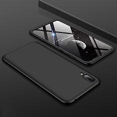 Custodia Plastica Rigida Cover Opaca Fronte e Retro 360 Gradi per Huawei Y7 Prime (2019) Nero