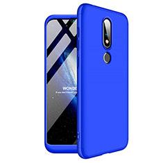 Custodia Plastica Rigida Cover Opaca Fronte e Retro 360 Gradi per Nokia X6 Blu