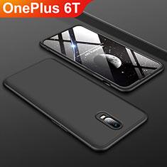 Custodia Plastica Rigida Cover Opaca Fronte e Retro 360 Gradi per OnePlus 6T Nero