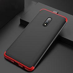 Custodia Plastica Rigida Cover Opaca Fronte e Retro 360 Gradi per Oppo Realme X Rosso e Nero