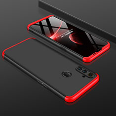 Custodia Plastica Rigida Cover Opaca Fronte e Retro 360 Gradi per Realme C3 Rosso e Nero