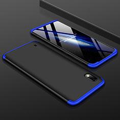 Custodia Plastica Rigida Cover Opaca Fronte e Retro 360 Gradi per Samsung Galaxy A10 Blu e Nero