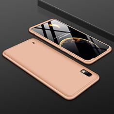 Custodia Plastica Rigida Cover Opaca Fronte e Retro 360 Gradi per Samsung Galaxy A10 Oro