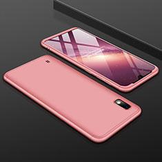 Custodia Plastica Rigida Cover Opaca Fronte e Retro 360 Gradi per Samsung Galaxy A10 Oro Rosa