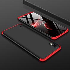 Custodia Plastica Rigida Cover Opaca Fronte e Retro 360 Gradi per Samsung Galaxy A10 Rosso e Nero