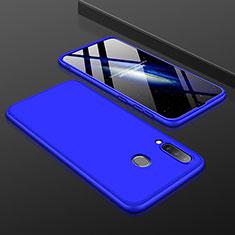 Custodia Plastica Rigida Cover Opaca Fronte e Retro 360 Gradi per Samsung Galaxy A30 Blu