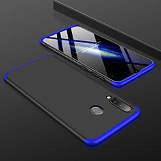Custodia Plastica Rigida Cover Opaca Fronte e Retro 360 Gradi per Samsung Galaxy A30 Blu e Nero