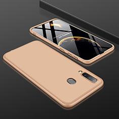 Custodia Plastica Rigida Cover Opaca Fronte e Retro 360 Gradi per Samsung Galaxy A30 Oro