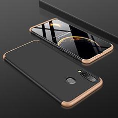 Custodia Plastica Rigida Cover Opaca Fronte e Retro 360 Gradi per Samsung Galaxy A30 Oro e Nero