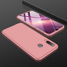 Custodia Plastica Rigida Cover Opaca Fronte e Retro 360 Gradi per Samsung Galaxy A30 Oro Rosa