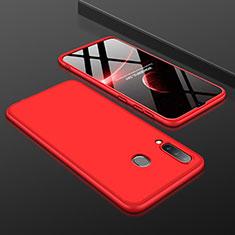 Custodia Plastica Rigida Cover Opaca Fronte e Retro 360 Gradi per Samsung Galaxy A30 Rosso