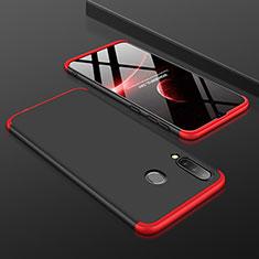 Custodia Plastica Rigida Cover Opaca Fronte e Retro 360 Gradi per Samsung Galaxy A30 Rosso e Nero
