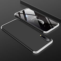Custodia Plastica Rigida Cover Opaca Fronte e Retro 360 Gradi per Samsung Galaxy A50 Argento e Nero