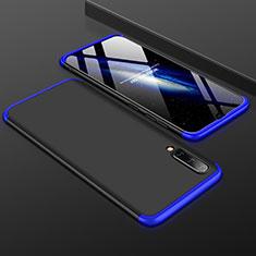 Custodia Plastica Rigida Cover Opaca Fronte e Retro 360 Gradi per Samsung Galaxy A50 Blu e Nero