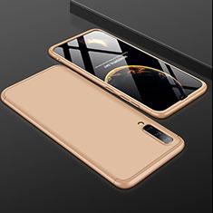 Custodia Plastica Rigida Cover Opaca Fronte e Retro 360 Gradi per Samsung Galaxy A50 Oro