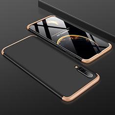 Custodia Plastica Rigida Cover Opaca Fronte e Retro 360 Gradi per Samsung Galaxy A50 Oro e Nero