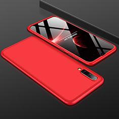 Custodia Plastica Rigida Cover Opaca Fronte e Retro 360 Gradi per Samsung Galaxy A50 Rosso