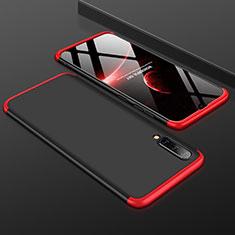 Custodia Plastica Rigida Cover Opaca Fronte e Retro 360 Gradi per Samsung Galaxy A50 Rosso e Nero
