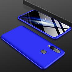 Custodia Plastica Rigida Cover Opaca Fronte e Retro 360 Gradi per Samsung Galaxy A60 Blu