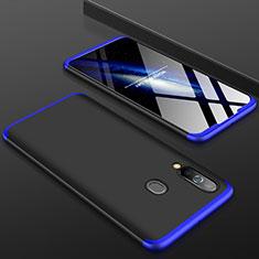 Custodia Plastica Rigida Cover Opaca Fronte e Retro 360 Gradi per Samsung Galaxy A60 Blu e Nero