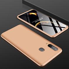 Custodia Plastica Rigida Cover Opaca Fronte e Retro 360 Gradi per Samsung Galaxy A60 Oro