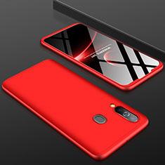 Custodia Plastica Rigida Cover Opaca Fronte e Retro 360 Gradi per Samsung Galaxy A60 Rosso