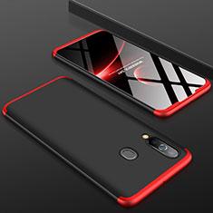 Custodia Plastica Rigida Cover Opaca Fronte e Retro 360 Gradi per Samsung Galaxy A60 Rosso e Nero