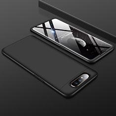 Custodia Plastica Rigida Cover Opaca Fronte e Retro 360 Gradi per Samsung Galaxy A80 Nero