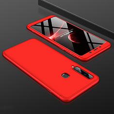 Custodia Plastica Rigida Cover Opaca Fronte e Retro 360 Gradi per Samsung Galaxy A9s Rosso