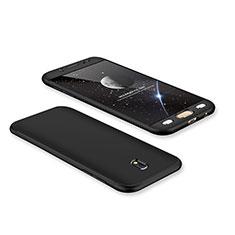 Custodia Plastica Rigida Cover Opaca Fronte e Retro 360 Gradi per Samsung Galaxy J7 Pro Nero