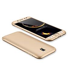 Custodia Plastica Rigida Cover Opaca Fronte e Retro 360 Gradi per Samsung Galaxy J7 Pro Oro