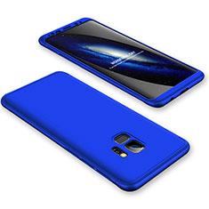 Custodia Plastica Rigida Cover Opaca Fronte e Retro 360 Gradi per Samsung Galaxy S9 Blu