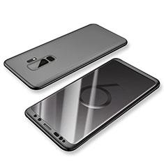 Custodia Plastica Rigida Cover Opaca Fronte e Retro 360 Gradi per Samsung Galaxy S9 Plus Nero