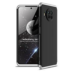 Custodia Plastica Rigida Cover Opaca Fronte e Retro 360 Gradi per Xiaomi Mi 10T Lite 5G Argento e Nero